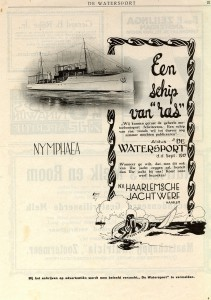 advertentie Nymphaea 1917