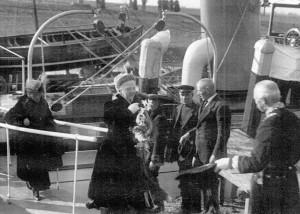 Koningin Emma, Den Briel 1922